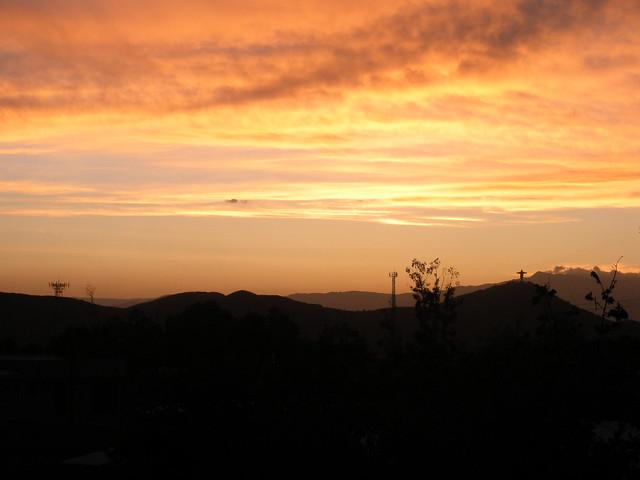 Sunset over Cochabamba