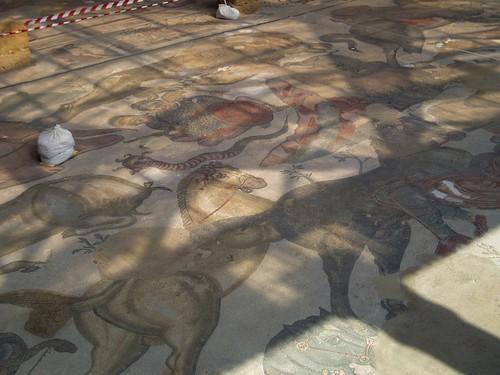 italy roman mosaic villa sicily casale piazzaarmerina