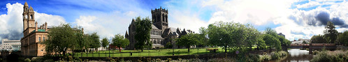 Paisley Town Hall and Paisley Abbey Panorama | by paisleyorguk