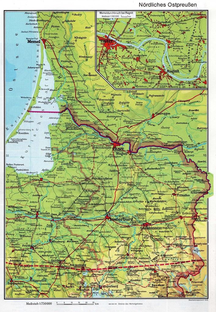 Karte Ostpreußen.002 Karte Nördl Ostpreußen Und Memelland Karte Vom Nördli Flickr