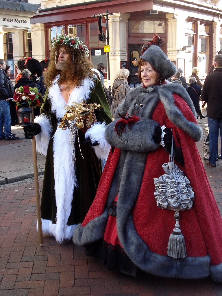 Spirit Of Christmas Past Costume.The Spirit Of Christmas Present And Companion Yes The Spir
