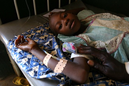Sick girl at UNICEF-supported health center in Sam Ouandja refugee camp | by hdptcar