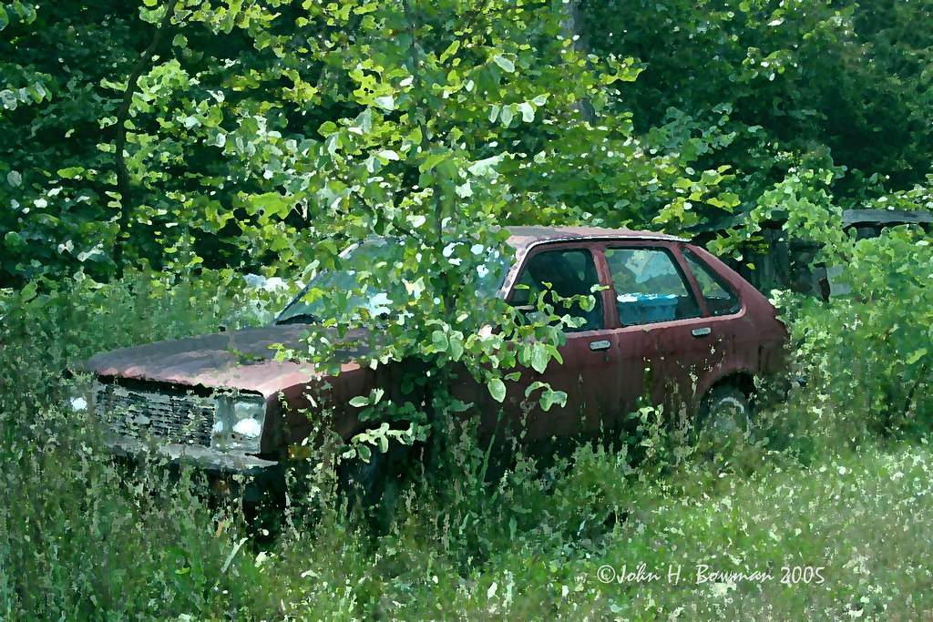 Playing with art effects - abandoned Chevette | View Large S