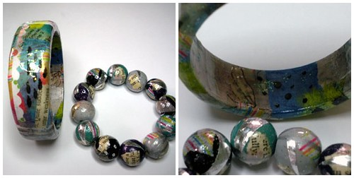 Decoupaged Bracelets | by CraftyHope