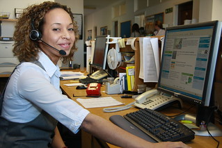 customer services shoot   by Phil Dowsing Creative