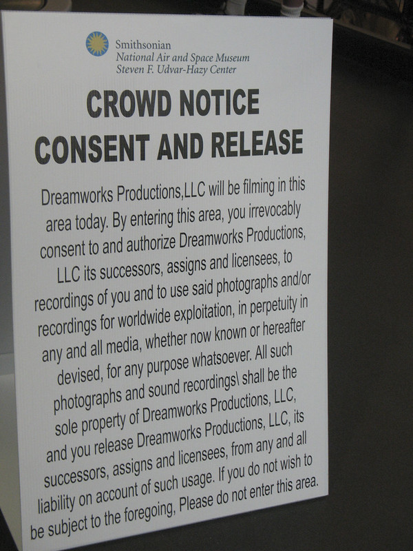 Crowd Notice Consent and Release