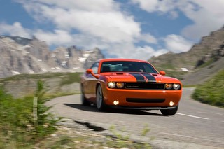 dodge-challenger-srt8-at-speed-in-the-mountains | by dodge challenger1
