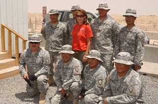 Alaska Governor Visits Troops in Kuwait