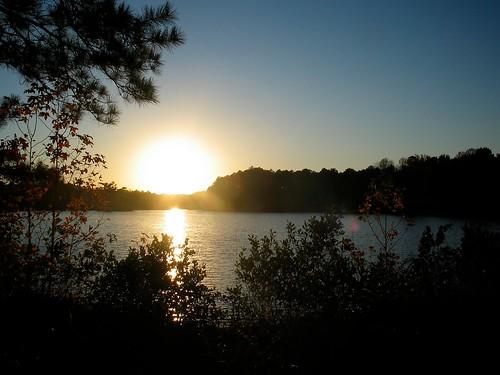 november autumn sunset usa lake fall rural georgia evening country riding raymond