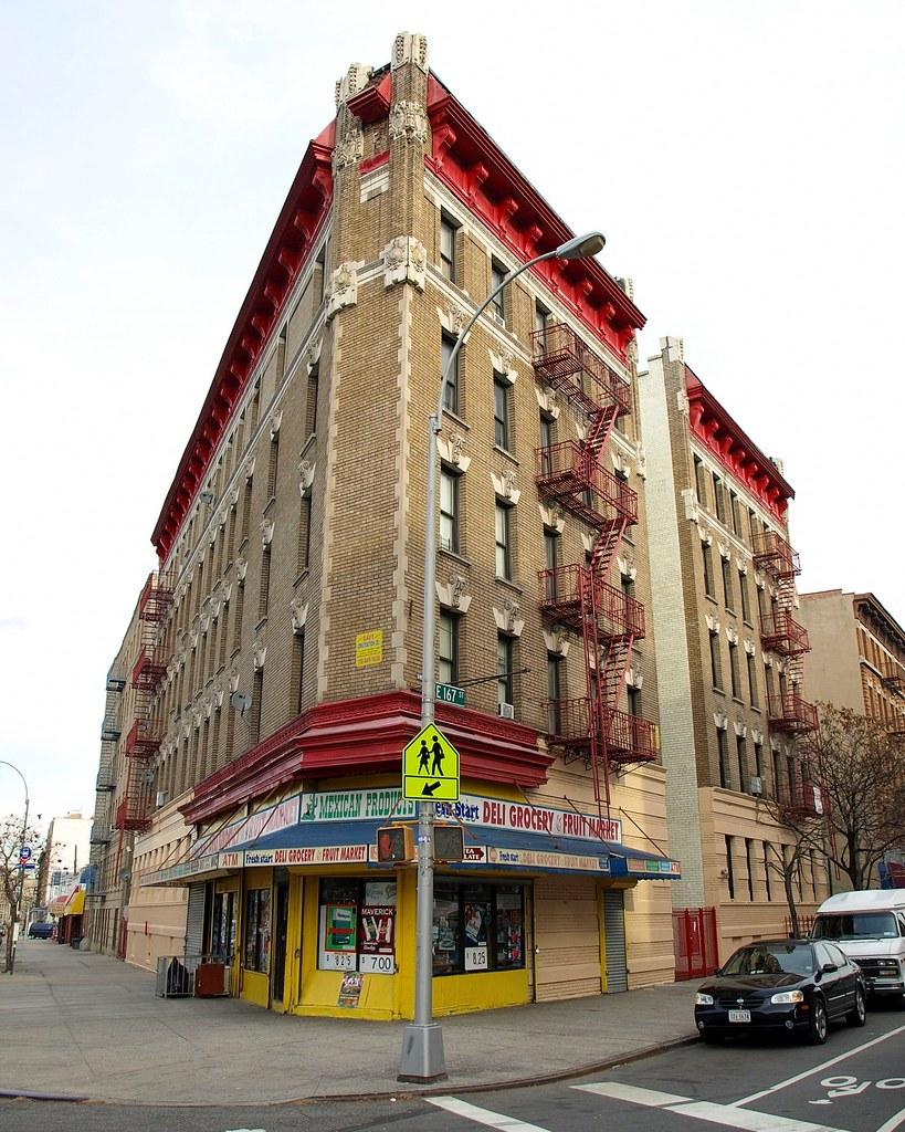 Classic Corner Building, Morrisania, Bronx, New York City