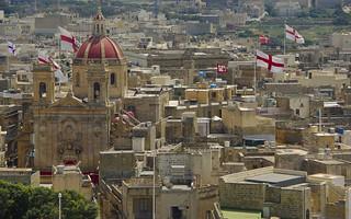 View of Victoria (Rabat) Gozo Island Malta
