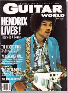 JimiGW-Cover 3-88 Guitar World,  HENDRIX LIVES!: THE UNPUBLISHED HENDRIX, VOL. II | by Doctor Noe