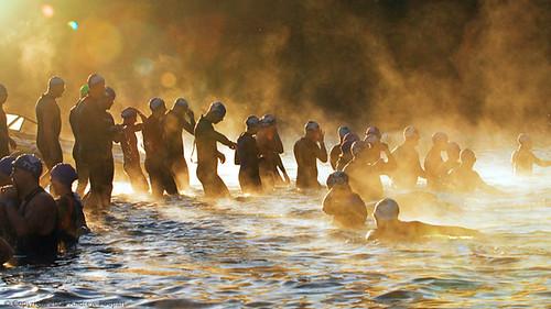 swim sunrise dawn sonoma ironman triathlon russianriver guerneville iso1600 d300 neatimage 70200mmf28gvr vineman 24miles