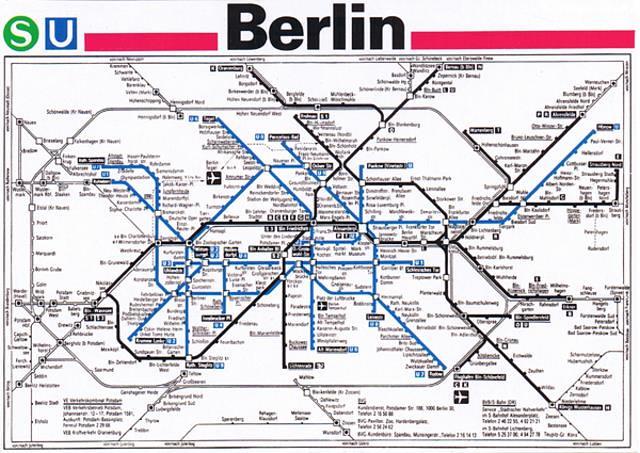 Berlin Us Bahn Map Postcard 90s Kotarana Flickr - Berlin-us-bahn-map