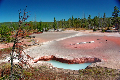 pool nationalpark paint artist mud hiking pastel hike explore pots trail caldera artists backcountry yellowstone wyoming geothermal hotsprings wy paintpots artistspaintpots awesomenature unature alhikesaz
