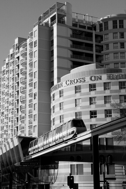 Monorail near Darling Harbour