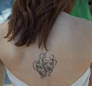 Mardi Gras Masks Back Tattoo   by David Schexnaydre