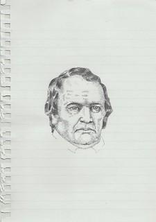 Zavier Ellis 'Mad Preacher Drawing # 1', 2014 Pencil on paper 21x14.8cm