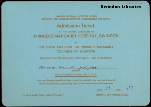 1966 Invitation To The Royal Opening Of Princess Margaret Flickr