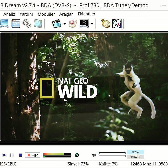 کد دستی بیس شبکه Nat Geo Wild HD در جهت ترکست 42 درجه شرقی