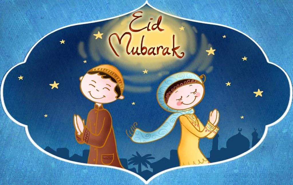 Eid Mubarak Cute Animated Girl Boy Hd Wallpaper Stylish Flickr