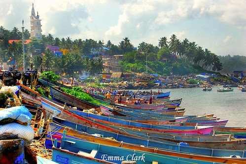 sea india fish colour landscape boats landscapes boat fishing nikon market indian kerala fishmarket hdr colouful