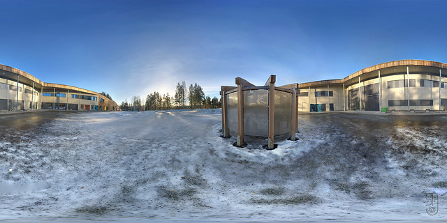 Kongsgårdmoen Skole (Kongsberg, Norway) 360x180 degrees-3550