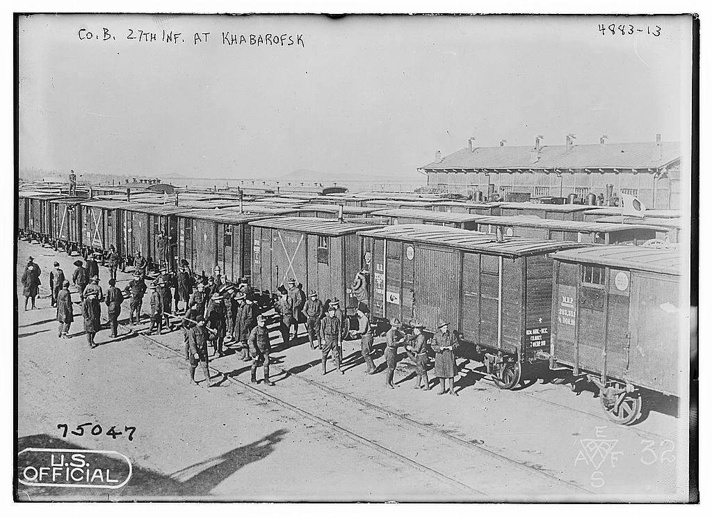Co. B. 27th Inf. at Khabarofsk (LOC)