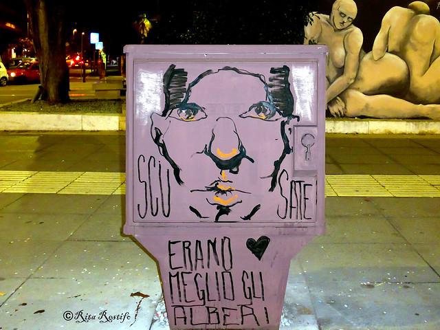 Roma. Trieste. Street art by ...