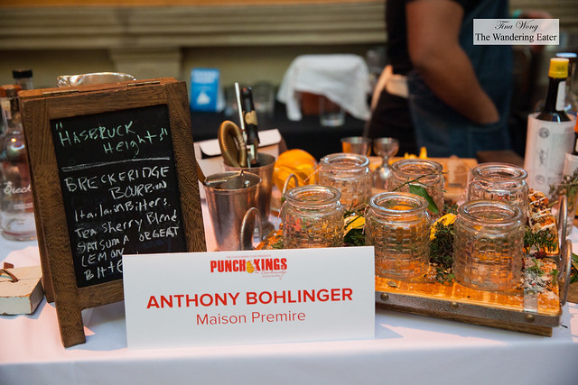 Setup for Anthony Bohlinger of Maison Premiere for Punch Kings competition