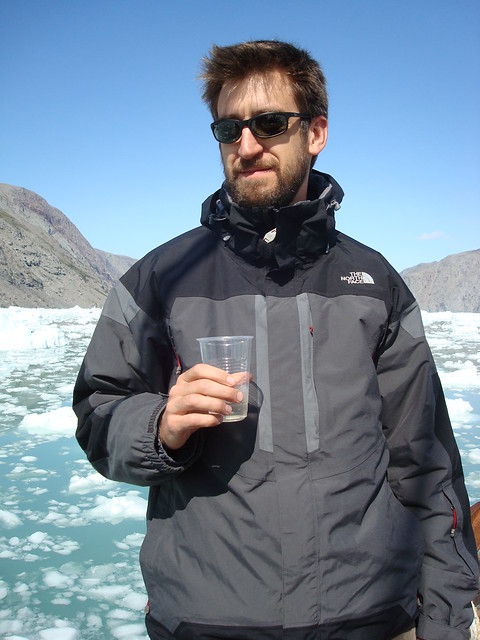 enjoying a cocktail in the fjord