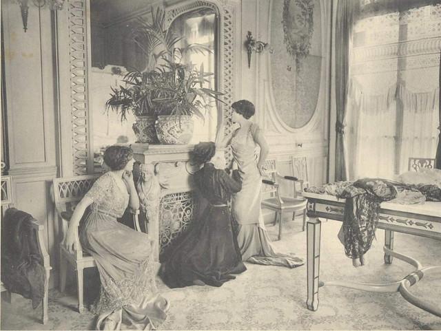 1910 French Couture House Coin De Salon Doeuillet Flickr