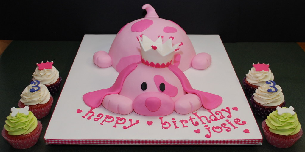 Tremendous Explored Pink Puppy Princess Birthday Cake Just Finished Flickr Funny Birthday Cards Online Overcheapnameinfo