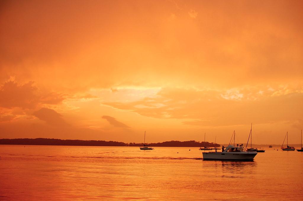 Wild Sunset With Lake Rescue by nataraj_hauser / eyeDance