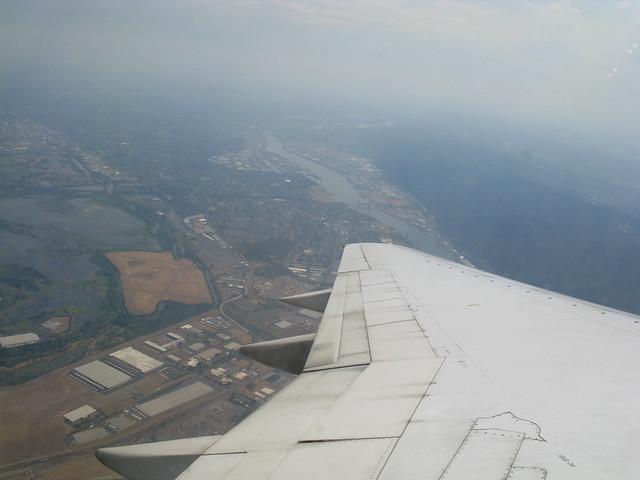 Flying over Portland