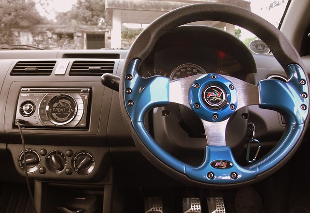Steering Wheel and Dashboard