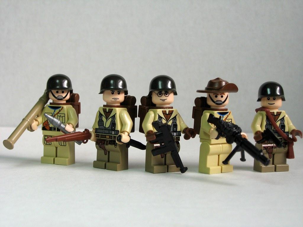 Allied World War II soldiers   US and Australian World War I