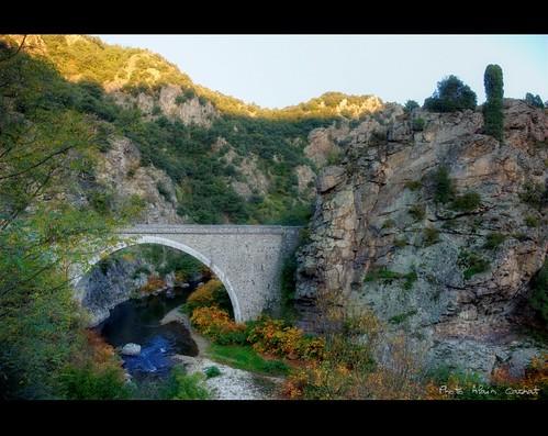bridge france river landscape nikon rivière pont paysage orton ardèche cance rhônealpes vivarais d80 lemoulindassuis
