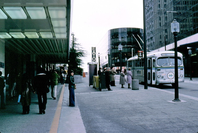 gm_10031 Granville Mall Bus Stop, Vancouver BC 1976