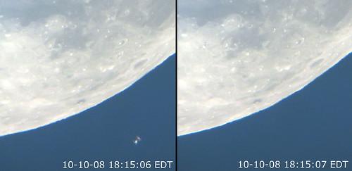 moon satellite rochester explore telescope astrophotography transit spacestation astronomy daytime lunar spacecraft iss astrophoto highfalls internationalspacestation rge chdk beebeestation lunartransit