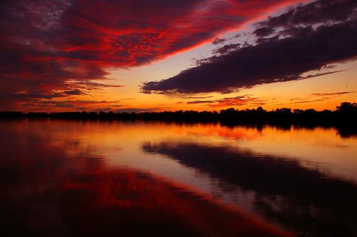 sunset sky lake beach water silhouette clouds oak hill richmond ridges