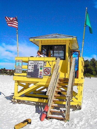Lifeguard Stand - Siesta Key FL   by dixiedining