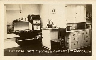 Hospital Diet Kitchen, Hot Lake Sanatorium, 1922
