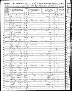 1850 Milwaukee census record - Schaap | by yhoitink