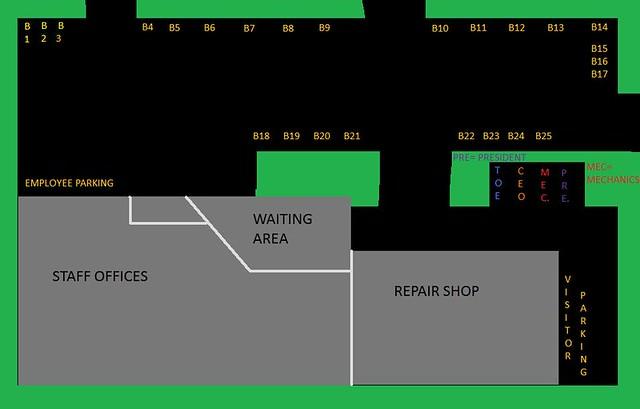 school bus city, inc  parking diagram | by garrett fuller