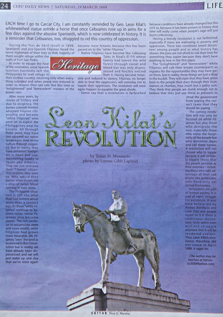 Leon Kilat's Revolution | Cebu Daily News: 03 29 2008 | Flickr