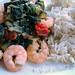 garnelen-pfanne mit spinat