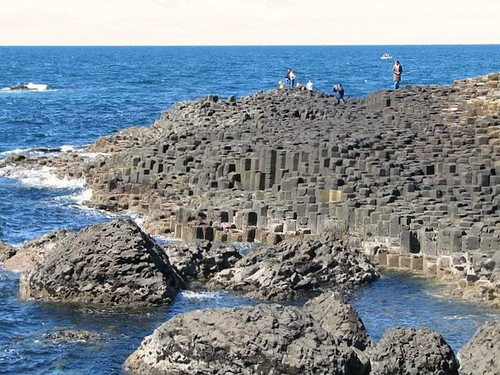 Natural hexagonal rocks - Giant's Causeway, Northern Ireland