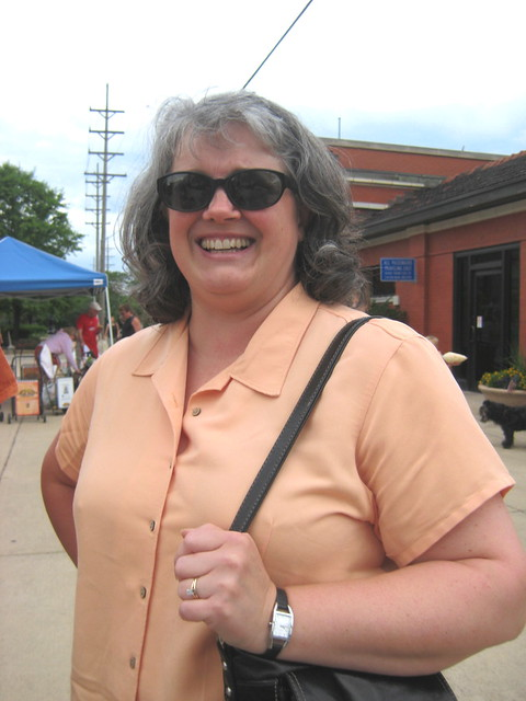 I met my friend Terri at the Downtown Downers Grove Market