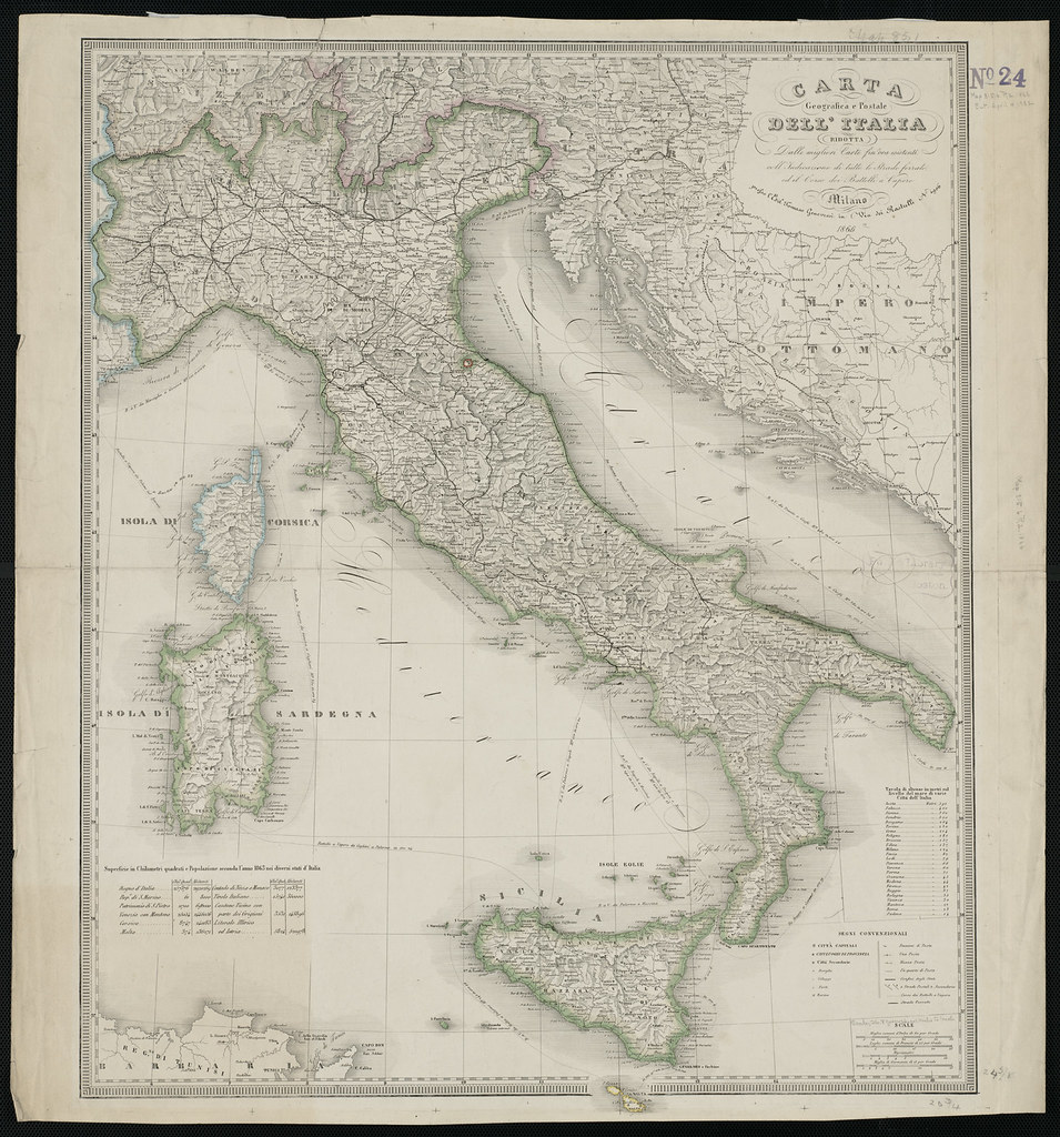 Cartina Geografica Italia Immagini.Carta Geografica E Postale Dell Italia Ridotta Dalle Migl Flickr